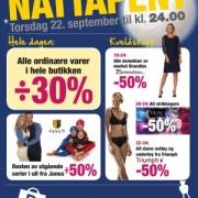 Annonse Nattåpent på Lørenskog