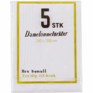 lommetørkle-dame 5-pk-bomull