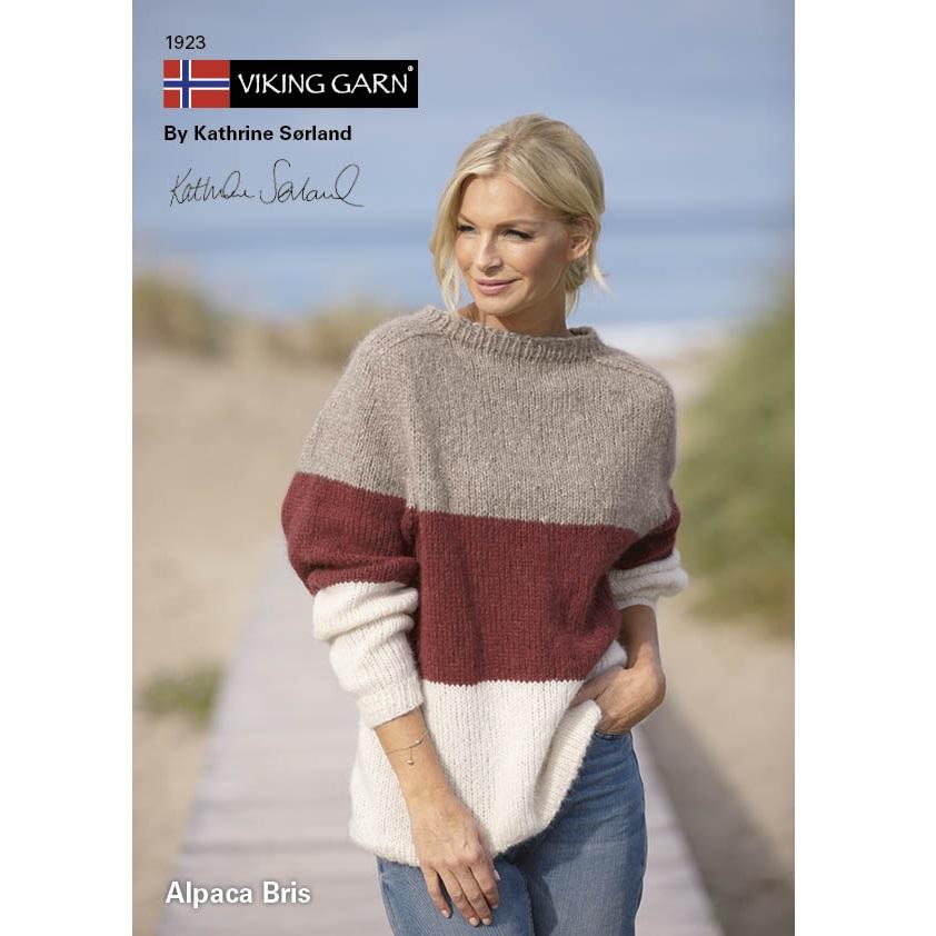 Viking Garn Takknemlig Genser   strikkepakke