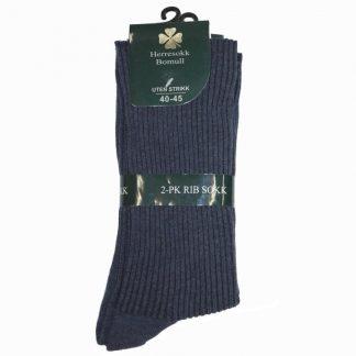 kløver-sokk-ribbestrikket-i-bomull